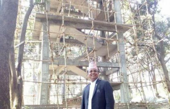 बेद्कोट नगरपालिका प्रमुख द्वारा बेद्कोट  View Tower को निरीक्षण को क्रममा.....
